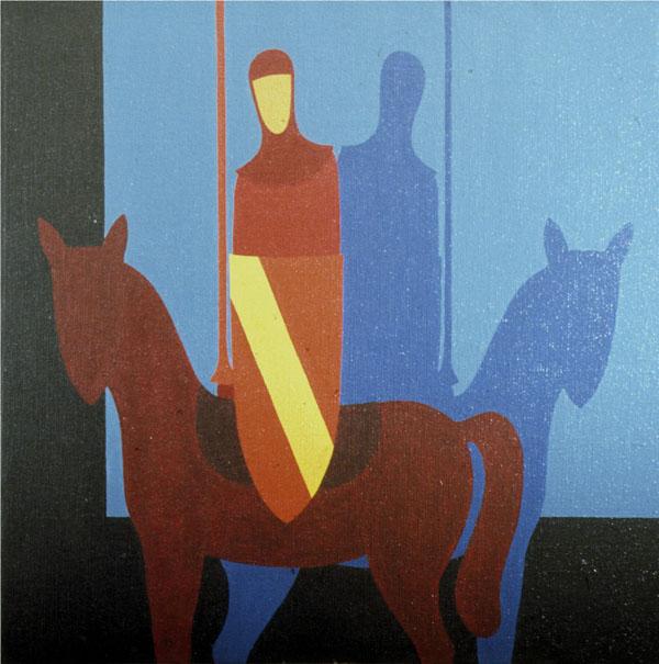 Studio per il Don Chisciotte - olio su tela cm 100X100