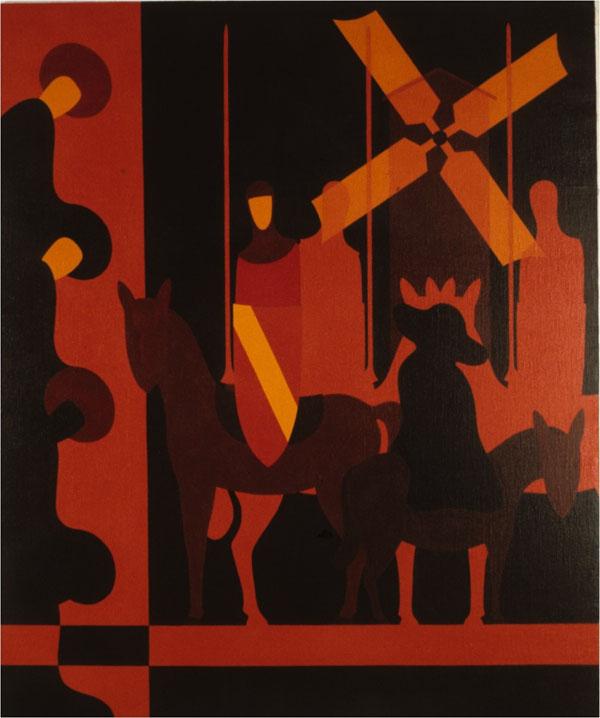 Follia di don Chisciotte - olio su tela cm 159X180