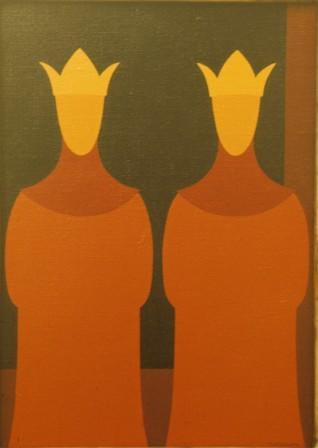 il Re è doppio - olio su tela cm 60 x 80