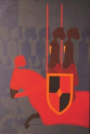 il Cavaliere del Tempio - olio su tela cm 80 x 120