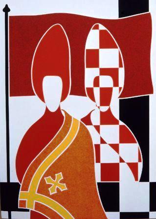 l'Alfiere - serigrafia a 4 colori